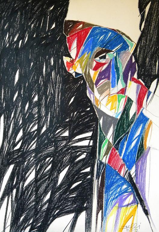 Ritratto di Umberto Boccioni - Gabriele Donelli - Pastelli - 300 €
