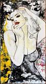 Ritratto alla sigaretta n.3 - EZIO  RANALDI - Action painting
