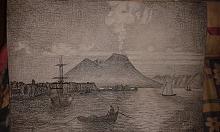 La terra del Vesuvio a carboncino - Alessandro Rizzo - Carboncino