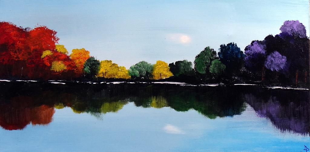 New England foliage - Daniela Pasqualini - Acrilico