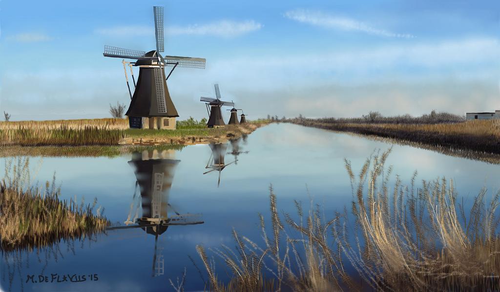 Mulini olandesi - Michele De Flaviis - Digital Art