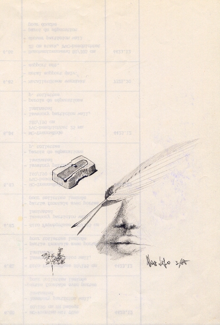 attributi d'arte - daniele Rallo  - matita - 30 €