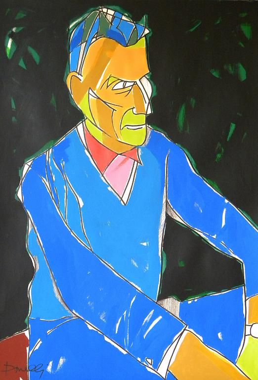 Ritratto di Samuel Beckett - Gabriele Donelli - Acrilico - 1100 €