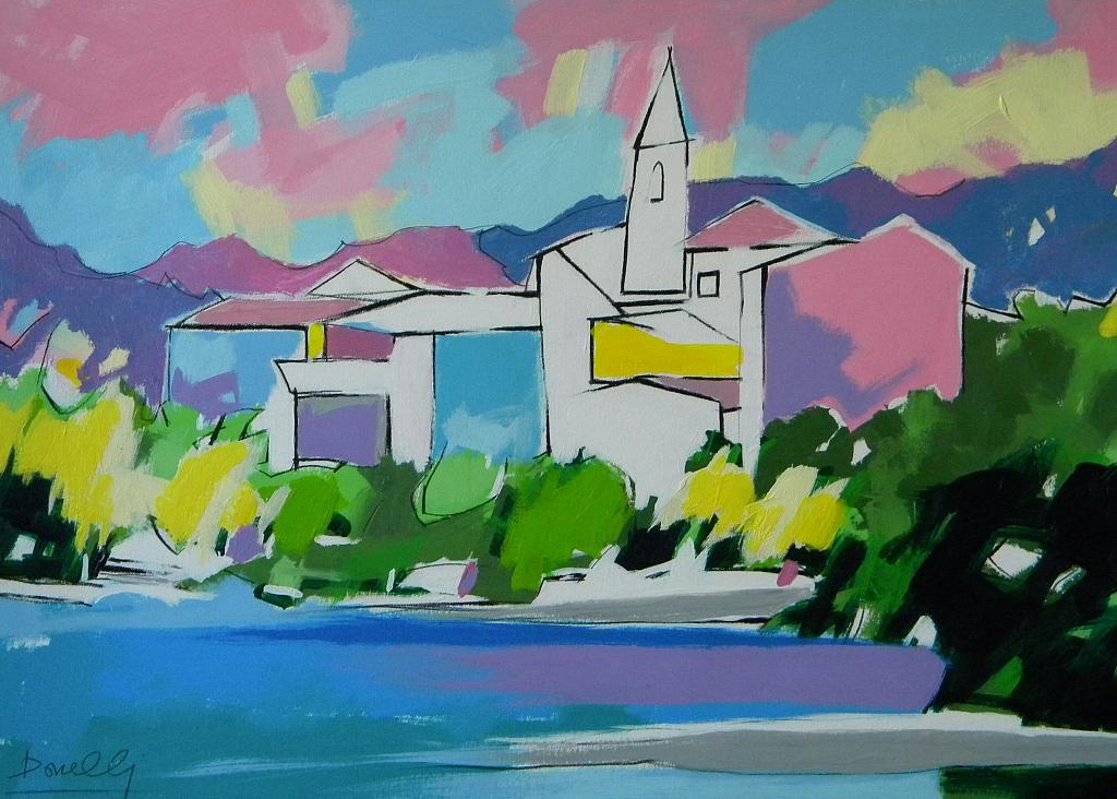 Isola Pescatori sul lago Maggiore - Gabriele Donelli - Acrilico - 700 €