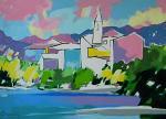 Isola Pescatori sul lago Maggiore - Gabriele Donelli - Acrilico - 300€