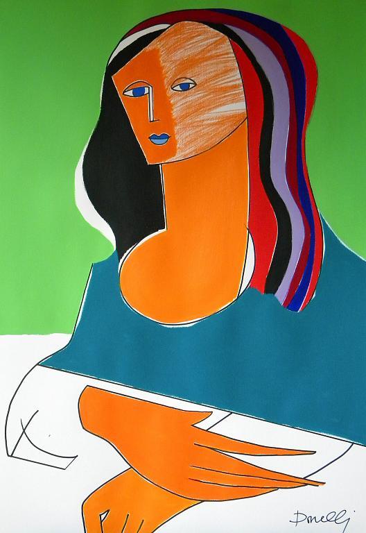 Ritratto di Monna Lisa - Gabriele Donelli - Pastello e acrilico - 300 €