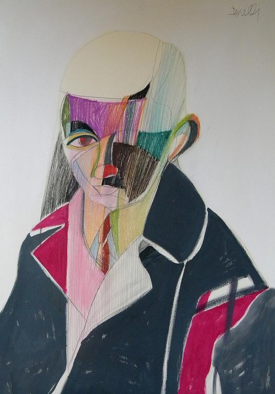 Autoritratto da bambino - Gabriele Donelli - Pastello e acrilico - 900 €