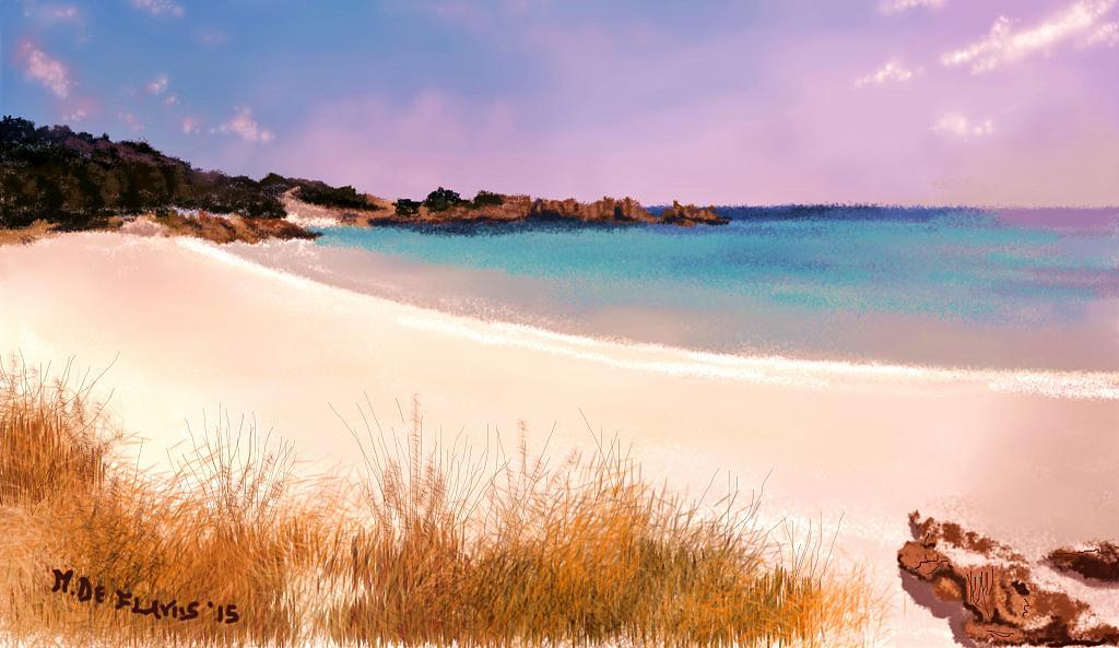 Spiaggia rosa - Michele De Flaviis - Digital Art