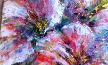 Fiori Rosa - tiziana marra - tecnica mista - 320,00€