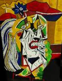 Ammirazione Picasso   ..rivisitazione Donna Che Piange - Luana Marchisio - Olio