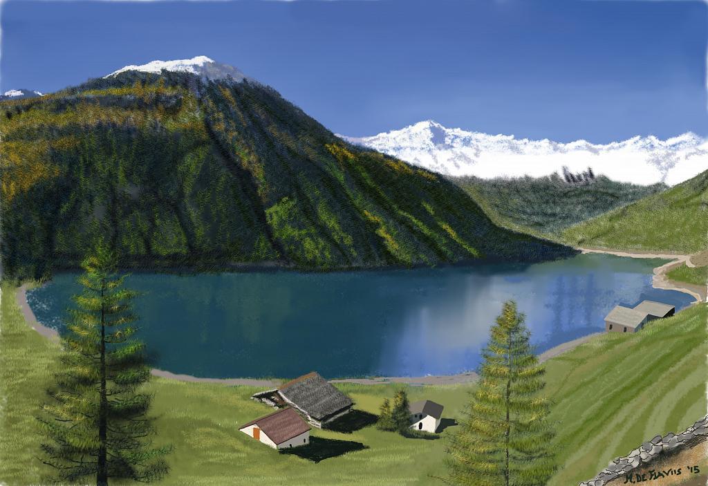 Paesaggio montano - Michele De Flaviis - Digital Art