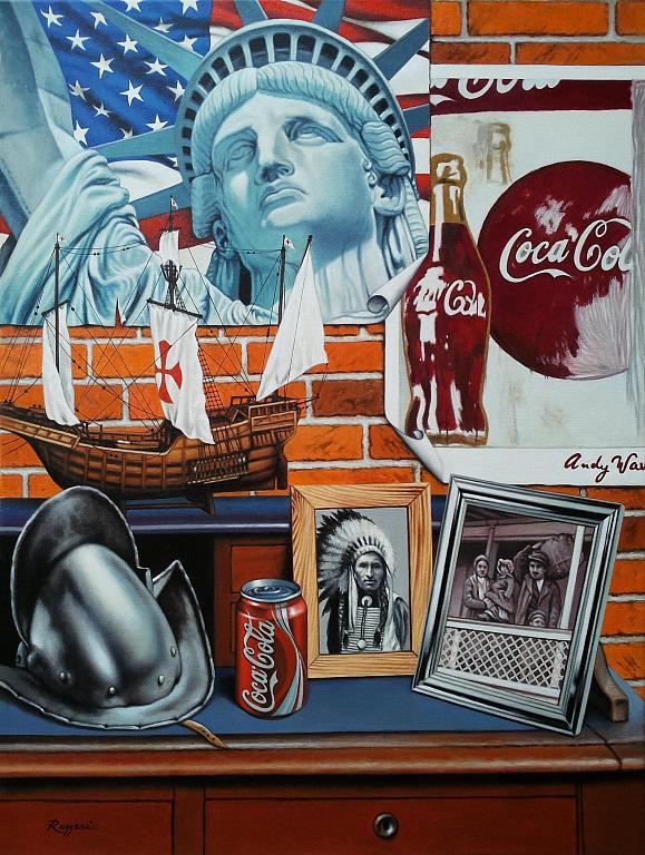America at a glance - Salvatore Ruggeri - Olio