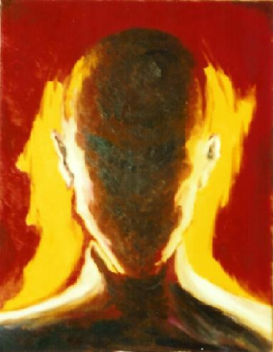 Volto in ombra - Francesco Granelli - Olio - 600 €