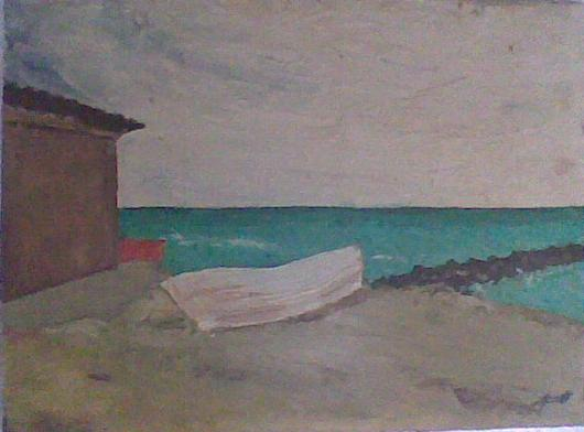 Spiaggia in Versilia - Francesco Granelli - Olio - 350 €