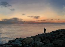 Il pescatore - Michele De Flaviis - Digital Art