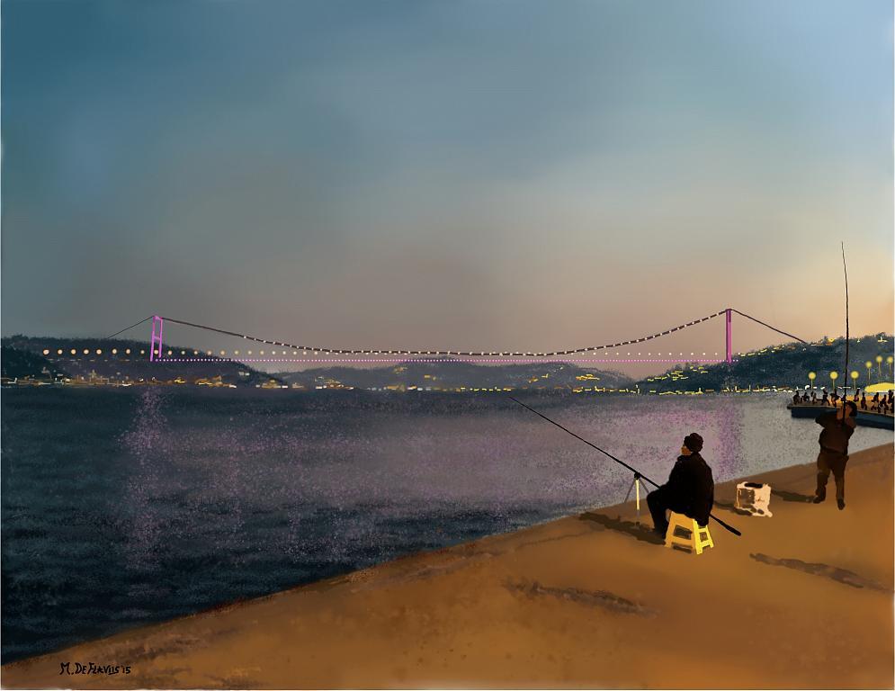 Ponte sul Bosforo - Michele De Flaviis - Digital Art - 120 €
