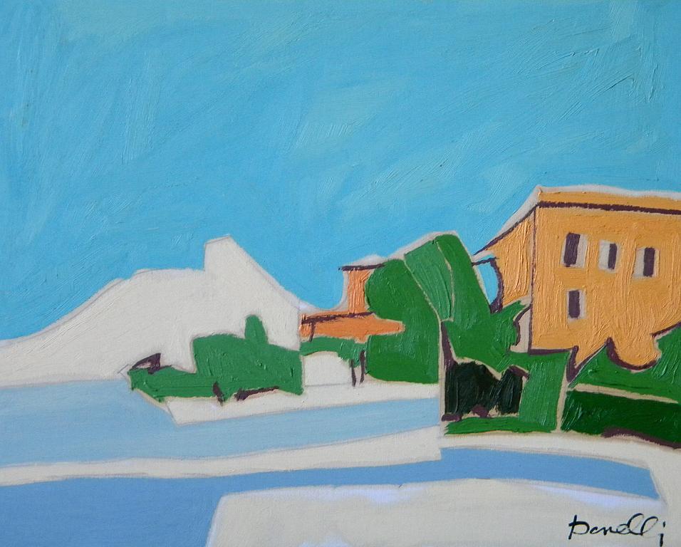 Veduta sul lago d'Iseo - Gabriele Donelli - Olio - 300 €
