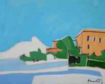 Veduta sul lago d'Iseo - Gabriele Donelli - Olio - 300€