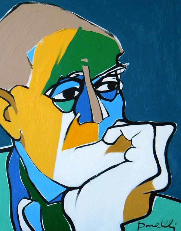 Ritratto di Alberto Moravia - Gabriele Donelli - Acrilico - 300 €