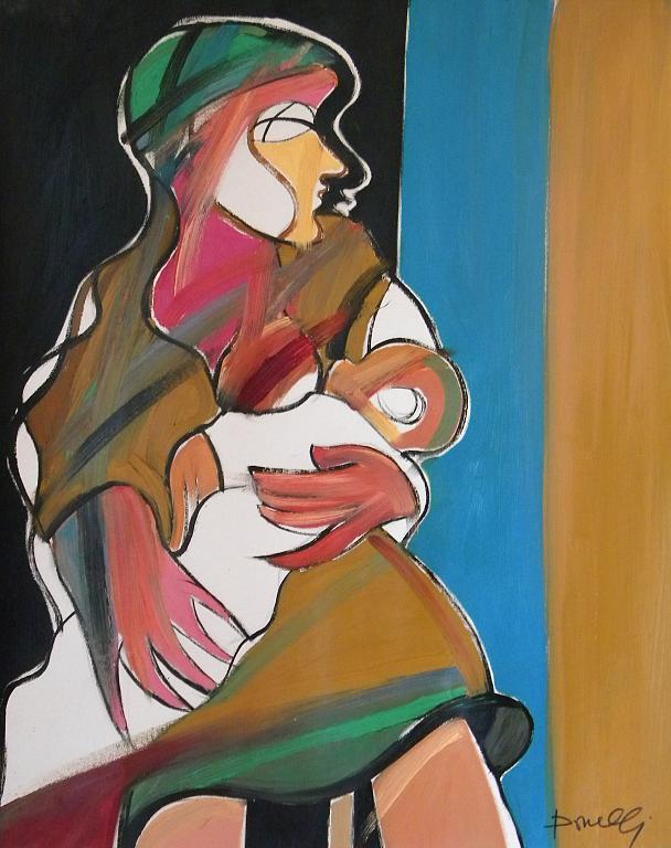 Maternità - Gabriele Donelli - Olio - 1200 €