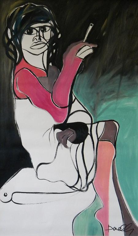 Donna seduta - Gabriele Donelli - Olio - 800 €