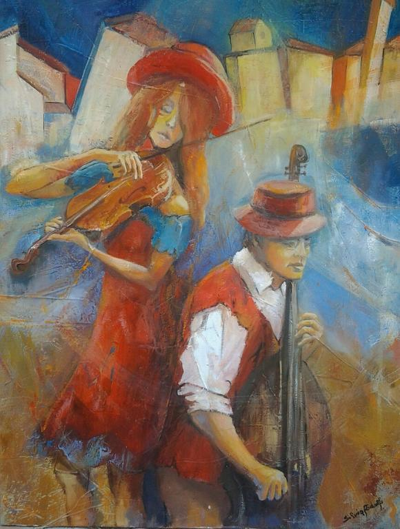 Musicanti - SILVIA RIDOLFI - Olio - 410,00 €