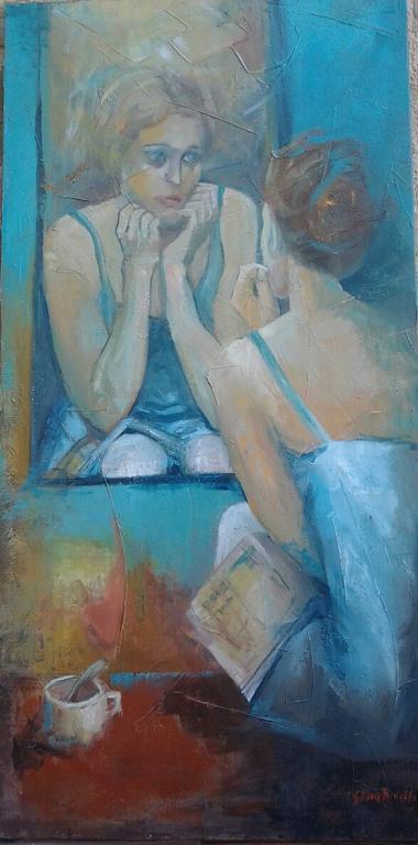 Allo specchio - SILVIA RIDOLFI - Olio - 410,00 €