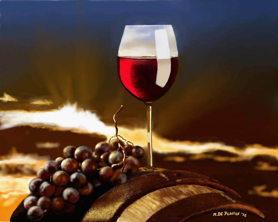 In Vino Veritas - Michele De Flaviis - Digital Art - 200 €