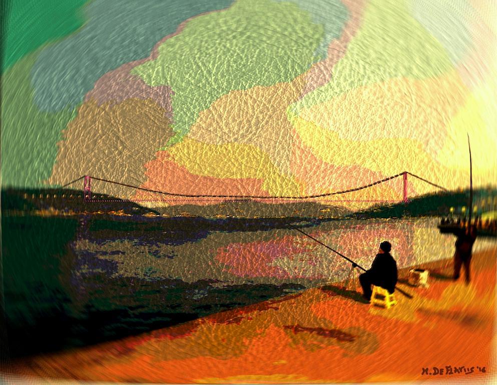 Ponte sul Bosforo2 - Michele De Flaviis - Digital Art