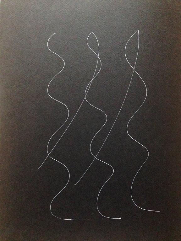 silhouttes - Andreina Guerrieri - Pastelli - 100 €