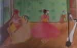 Interno danza - Alba  Andò - Olio