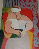 Il sogno - omaggio a Picasso - Alba  Andò - Olio
