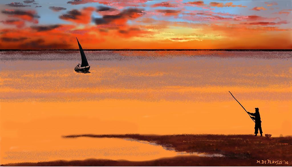 La pesca - Michele De Flaviis - Digital Art