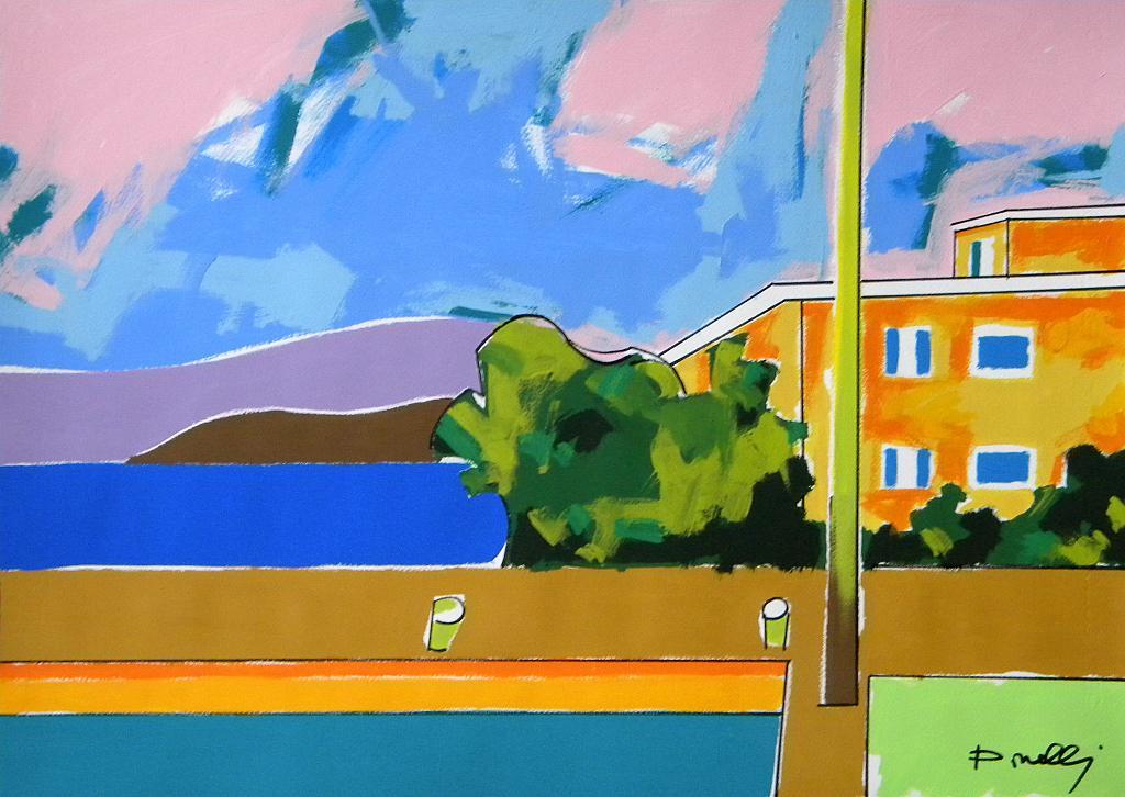 Veduta sul lago d'Iseo - Gabriele Donelli - Acrilico - 400 €