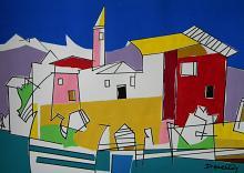 Isola Pescatori sul Lago Maggiore  - Gabriele Donelli - Acrilico - 400€