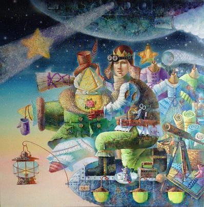 """"""" ANCHE LE STELLE DESIDERANO IL CALORE"""" - Viktoriya Bubnova - Olio"""