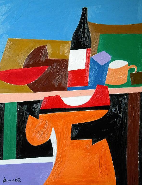 Composizione metafisica - Gabriele Donelli - Olio - 400 €