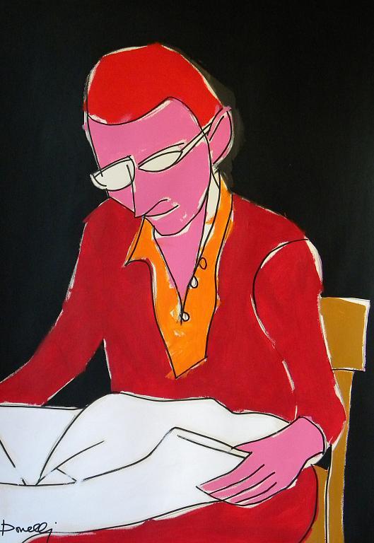 La lettura - Gabriele Donelli - Acrilico - 400 €