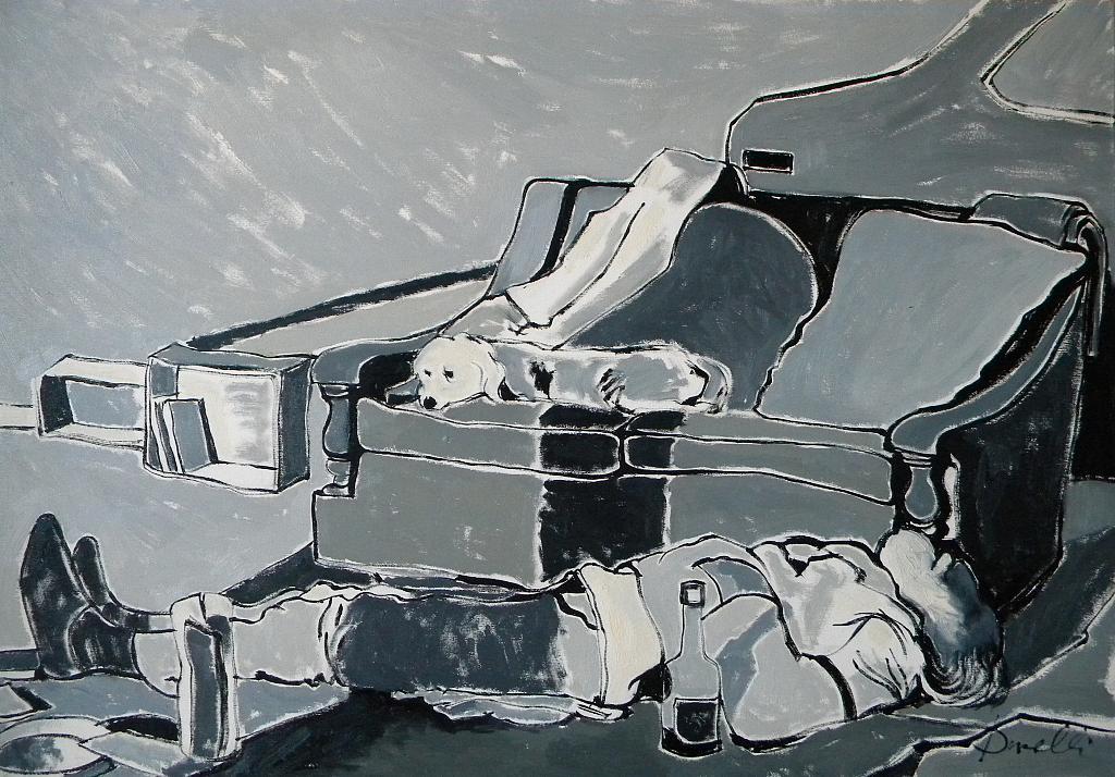 Vita da barbone - Gabriele Donelli - Olio - 300 €