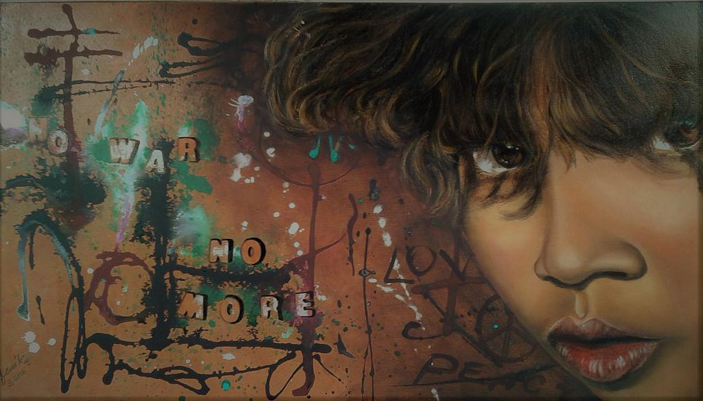 No war  no more - anna casu - Olio