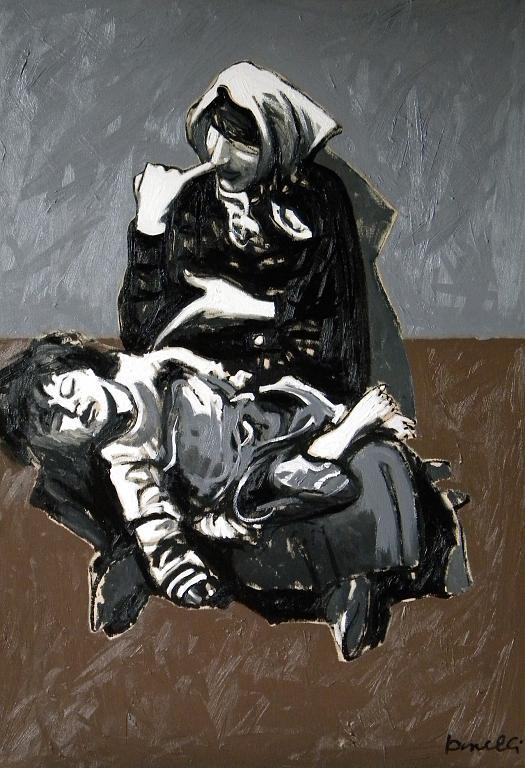 Zingara con bambina - Gabriele Donelli - Olio - 600 €