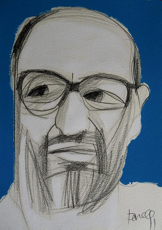 Ritratto di Umberto Eco - Gabriele Donelli - Matita e acrilico - 500 €