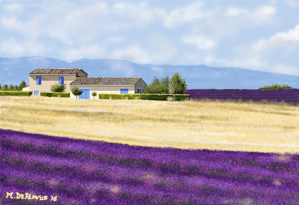 Casolare provenzale (Francia) - Michele De Flaviis - Digital Art - 150 €