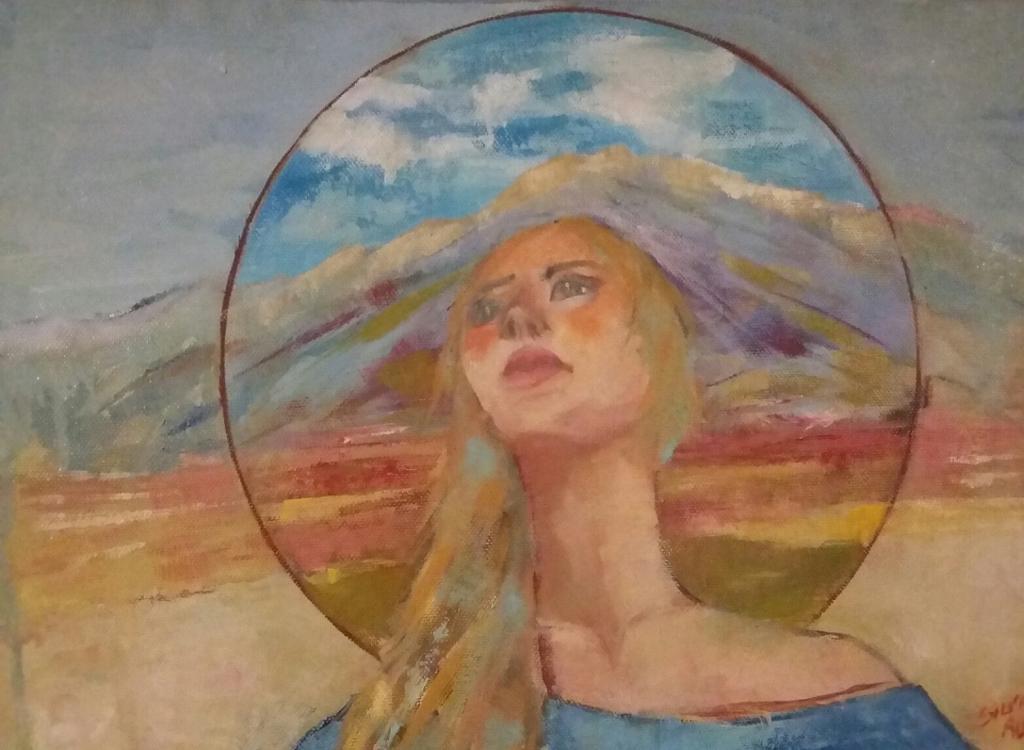 paesaggio a falda larga - SILVIA RIDOLFI - Olio - 160 €