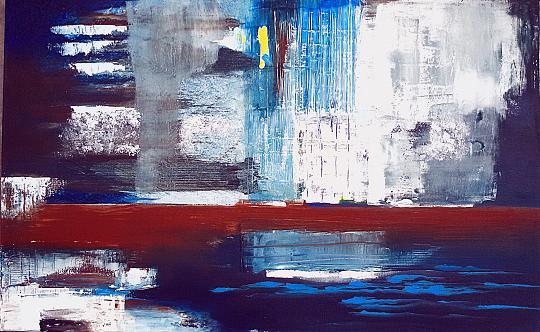 Deframmentazione temporale-3 - GIOVANNI GRECO - olio, stucco, vernice - 380 €