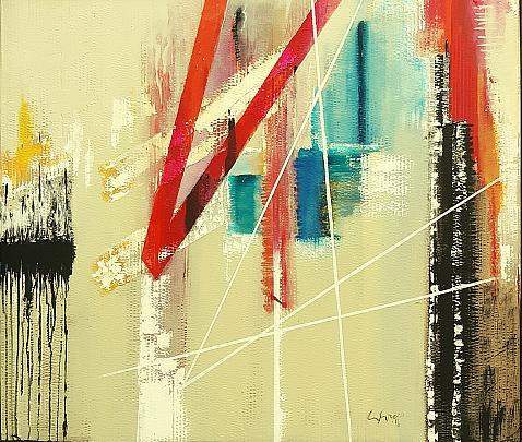Persistenza spazio dimensionale - GIOVANNI GRECO - olio, vernice spray, stucco - 390 €