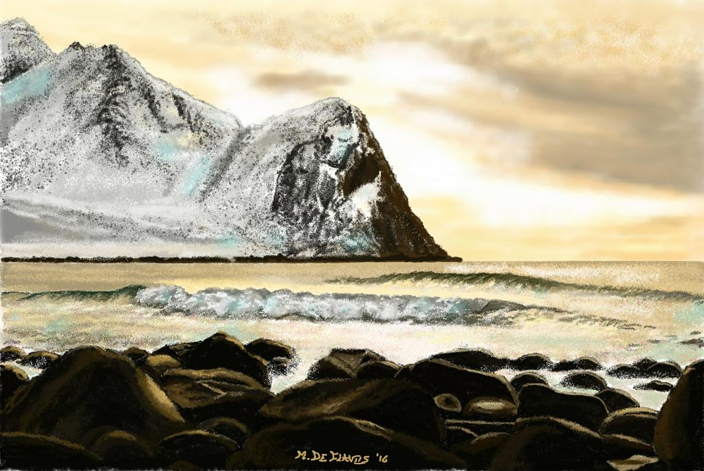 Isole Lofoten Norvegia - Michele De Flaviis - Digital Art