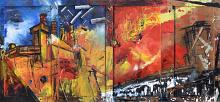 Orange Factory - Lucio Forte - Action painting - 790€