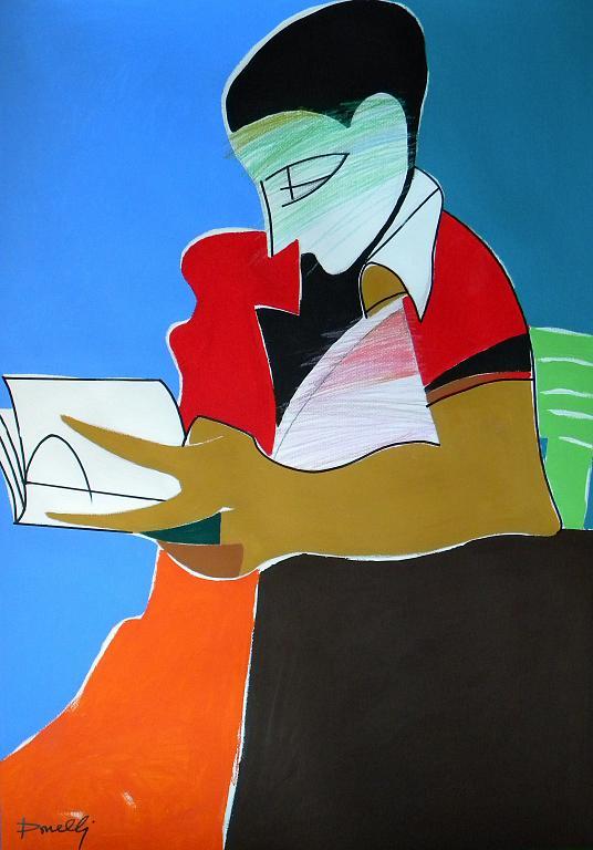 La lettura - Gabriele Donelli - Pastello e acrilico - 900 €