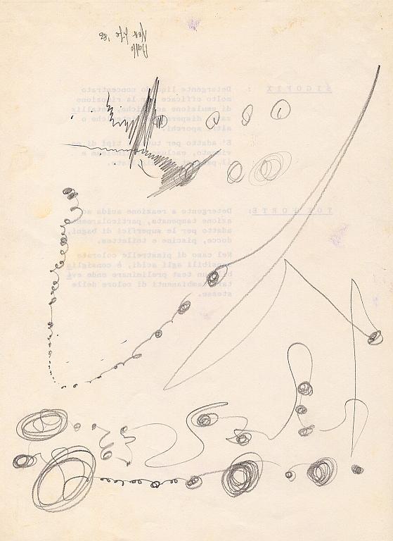 scritte in evoluzione - daniele Rallo  - matita - 20 €